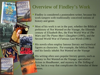 Introduction to Timothy Findley and The Wars