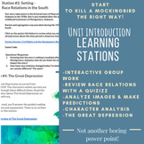 Introduction to To Kill a Mockingbird Learning Stations Activity