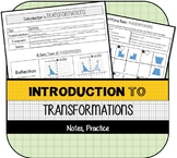Introduction to Transformations (Notes & Practice)