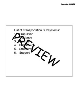 Introduction to Transportation Lesson