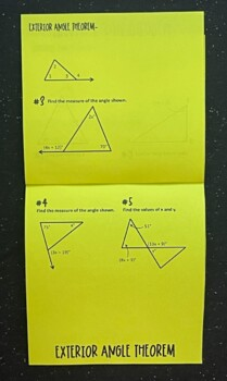 Introduction to Triangles (Geometry Foldable)