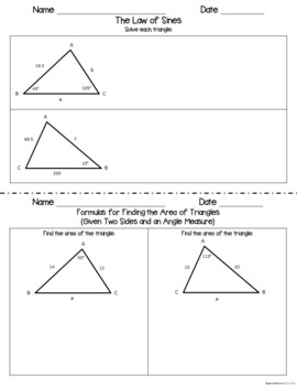 The Trigonometric Functions - Guided Notes and INB Activities