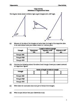 Introduction to Trigonometric Ratio (full version)