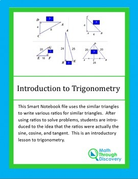Geometry:  Introduction to Trigonometry
