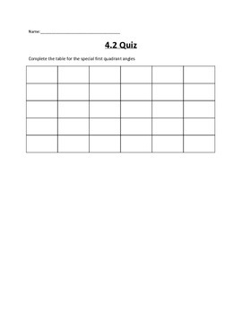 Introduction to Trigonometry Lesson 2 Quiz