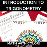 Introduction to Trigonometry Spiral Review Math with Color