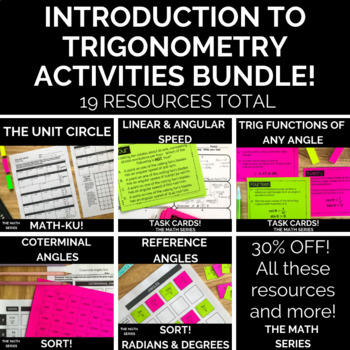 Introduction to Trigonometry (for PreCalculus) Activities Bundle