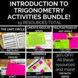 Introduction to Trigonometry (for PreCalculus) Activities Bundle