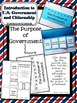 Introduction to US Government and Citizenship Interactive Notebook