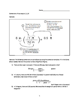 Introduction to Unit Conversions