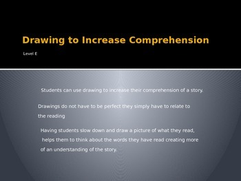 Introduction to Using Drawings to Increase Comprehension