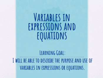 Introduction to Variables