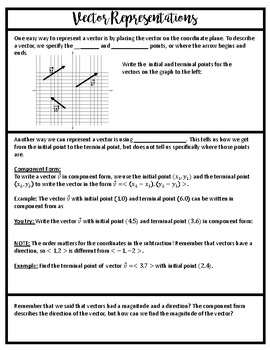 Introduction to Vectors Guided Notes and Homework