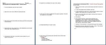 Introduction to Vertebrates Genus Homo Homework 4