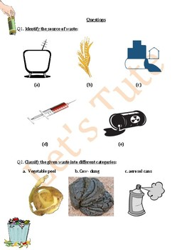 Introduction to Waste | Assessment | Worksheets