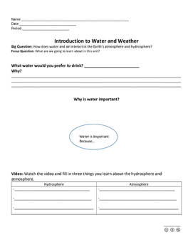Introduction to Water and Weather