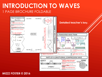 Introduction to Waves One Page Brochure Foldable for Interactive Notebook