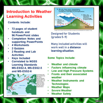 Introduction to Weather Learning Activities