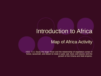Introduction to West Africa PowerPoint