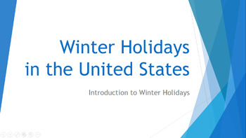 Introduction to Winter Holidays Powerpoint and Passage with Text-Dependent Qs