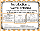 Introduction to Word Problems: What Are They and How Can We Make Sense of Them?