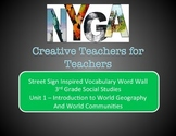 World Geography And World Communities Vocabulary Words