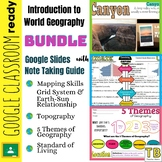 Introduction to World Geography Google Slides BUNDLE and N