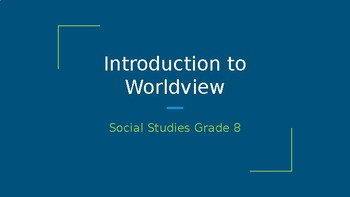 Social 8: Alberta: Introduction to Worldview (Pearson)
