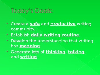 Introduction to Writer's Work Shop