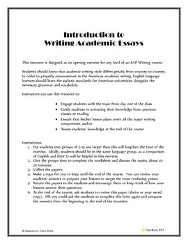 Writing Academic Essays