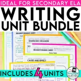 Writing Bundle for Secondary ELA: Narrative, Argument, Res