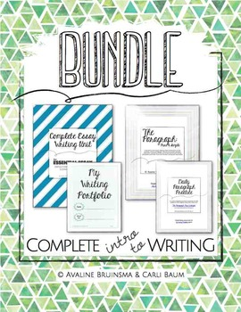 Introduction to Writing Bundle (Essays/Paragraphs/Writing