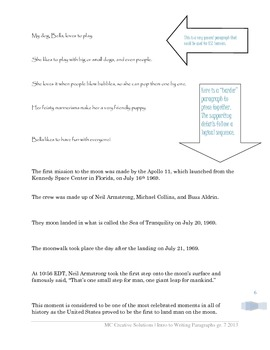 Introduction to Writing Paragraphs