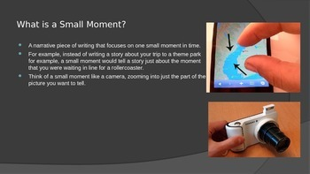 Introduction to Writing a Small Moment Powerpoint
