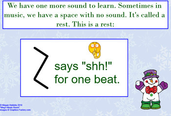 Introduction to Written Rhythms - Christmas Lesson - elementary music