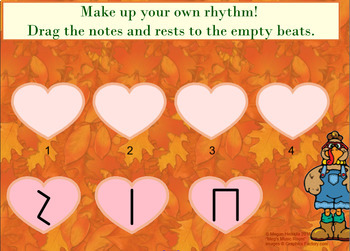 Introduction to Written Rhythms - Kindergarten Lesson - Turkey/Thanksgiving