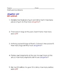Introduction to addition and subtraction (Word Problems)