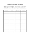 Introduction to ancient civilizations worksheet