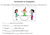 Introduction to conjugating verbs in Spanish -ar, -er, and -ir