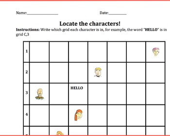 Introduction to graphing lesson math grades 3-5