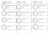 Introduction to half past, quarter past and quarter to worksheet