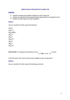 Introduction to logarithms.