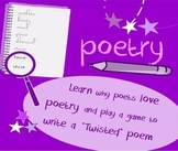 Introduction to poetry lesson-What makes art? Analyze & play game to write poem
