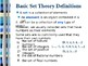 Introduction to set theory, Basic concepts