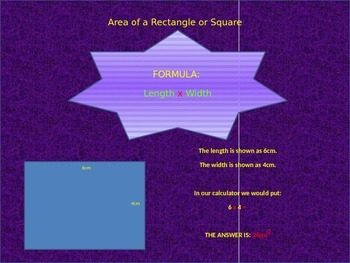 Introduction to simple Area calculations - Powerpoint