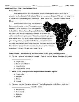 Introduction to sub-Saharan Africa