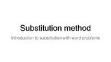 Introduction to substitution system of equations