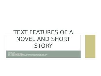 Introduction to text features and text structures