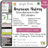 Introduction to the 13 Colonies Google Slides with Graphic