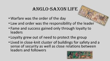 Introduction to the Anglo-Saxons PowerPoint Notes